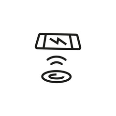 Telephone and charging pad line icon