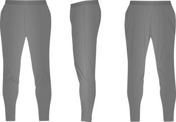 Grey tracksuit bottom. vector illustration