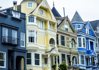 San Francisco architecture cityscape, Haight-Ashbury District - San Francisco, California, CA, USA