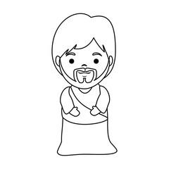 cute saint joseph character vector illustration design