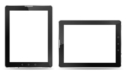 Rrealistic tablet computers with a connector for headphones and with speakers, in order to express your application