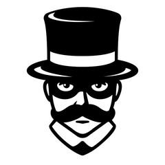 Incognito man in mask