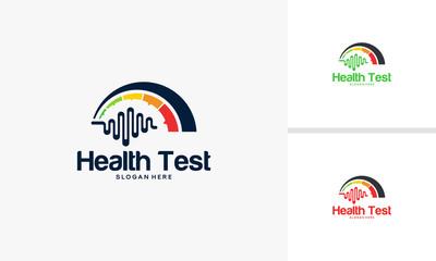 Health Test logo designs concept, Health logo designs