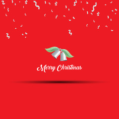 Merry christmas greeting card design.