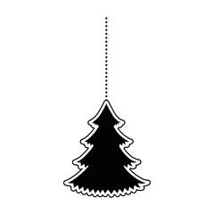 pine tree hanging icon vector illustration design
