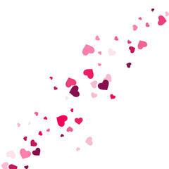 Heart confetti beautifully  fall on the background