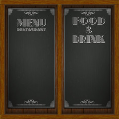 Menu wood board design