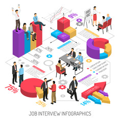 Job Interview Infographics Composition