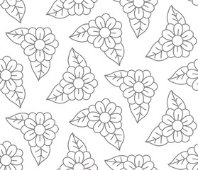 Flowers floral seamless vector pattern