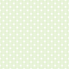 Seamless pattern in green color made of circles. Inspired of banknote, money design, currency, note, check or cheque, ticket, reward. Watermark security. Vector.