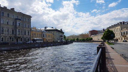 Saint-Petersburg in the summer