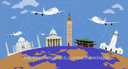 Aircraft flights all over the world