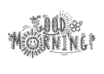Good Morning lettering text