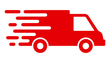 Fast shipping delivery truck, fast shipping service – vector