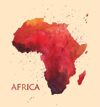 Stylized map of Africa.