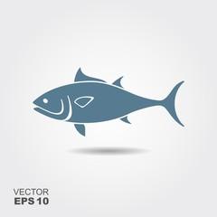 Tuna Fish flat icon