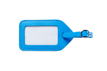 blue leather luggage tag,bag tag
