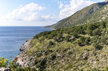 Foto auf Acrylglas Osteuropa Albanian Riviera with Mediterranean Sea