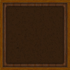 wooden background leather insert
