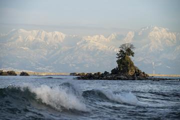 雨晴海岸、12月