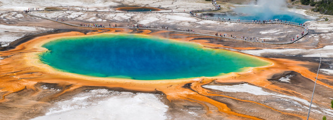 Photo sur Plexiglas Parc Naturel Grand Prismatic Spring, Wyoming