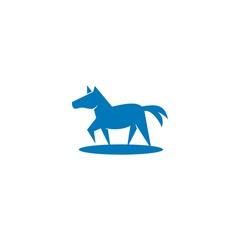 horse logo, stallion silhouette vector