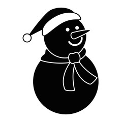 christmas snowman kawaii character vector illustration design