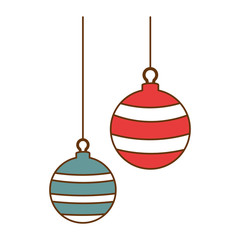 christmas ball hanging icon vector illustration design