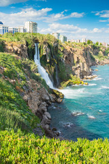 Lower Duden waterfall on the Mediterranean coast
