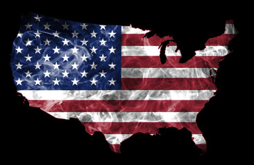 USA Smoke Flag Map