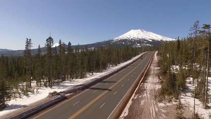 Wall Mural - Road to Mount Bachelor Oregon Stratovolcano Cascade Volcanic Arc