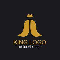 King Logo Vector Template Design