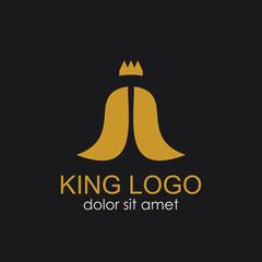 King Logo Vector Template Design