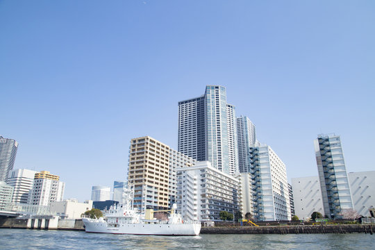 The landscape of sumida river