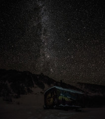 Milky Way over the Hamar-Daban mountains