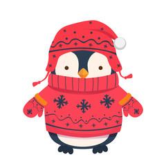 Fototapeta premium ilustracja kreskówka pingwina