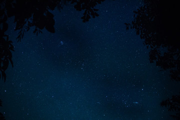 Sky and stars at night of 9/12/2560 at 21:30 Shoot with a DSLR