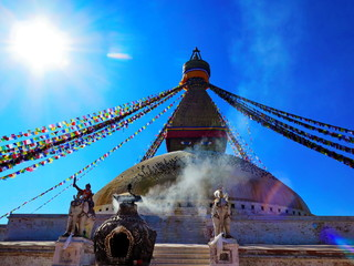 Boudhanath Stupa in Nepal, attractive popular place for tourism