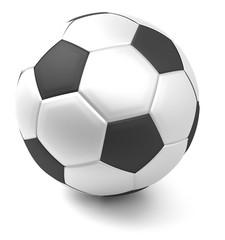 ball soccer football white isolated 3d rendering