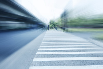Sidewalk of urban road