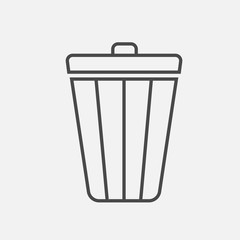 delete or recycle bin for technology and litter bin for public places keep clean no littering vector icon eps10