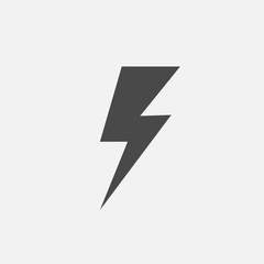 lightning thunder symbol for energy charging and power vector icon eps10 red and yellow