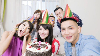 people with birthday party