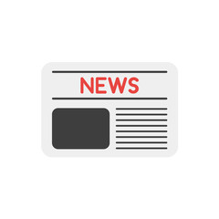 Flat design vector concept of front page of newspaper