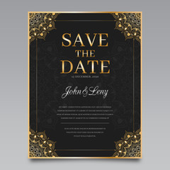 Golden and Black Wedding Invitation
