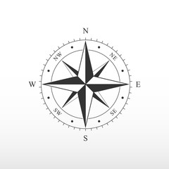 Nautical compass icon.