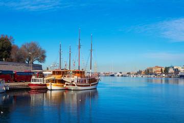 Deurstickers Turkije Marina in Zadar. Croatia.