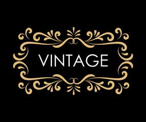 Vintage hand drawn frame label retro engraving antique vector illustration