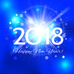 Beautiful  Happy New Year 2018 background