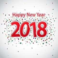 2018 Happy New Year Background Decoration